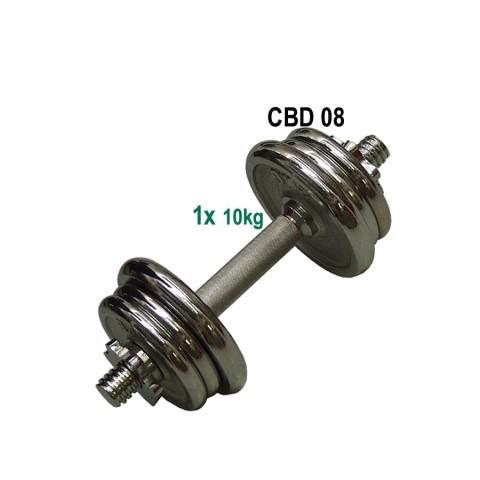 ACRA Nakládací činka jednoruční, chromovaná - 10kg