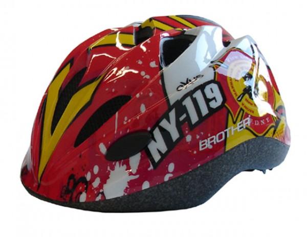 ACRA CSH065-S červená cyklistická dětská helma velikost S(48-52 cm) 2014