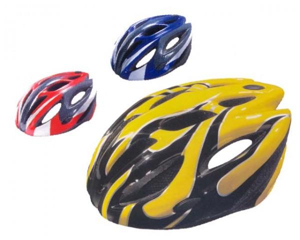 ACRA CSH25M červená/modrá/žlutá cyklistická helma velikost M(56-58cm) 2013