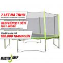 SET trampolína MASTERJUMP 457 cm + ochranná síť vnější