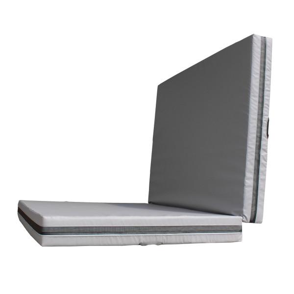 Dopadová skládací žíněnka MASTER T21 - 300 x 200 x 20 cm - šedá