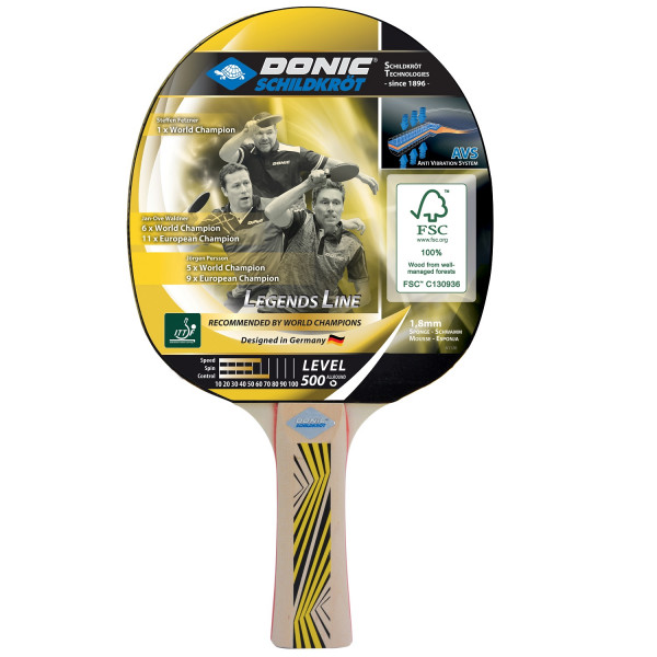 Pálka na stolní tenis DONIC Legends 500 FSC