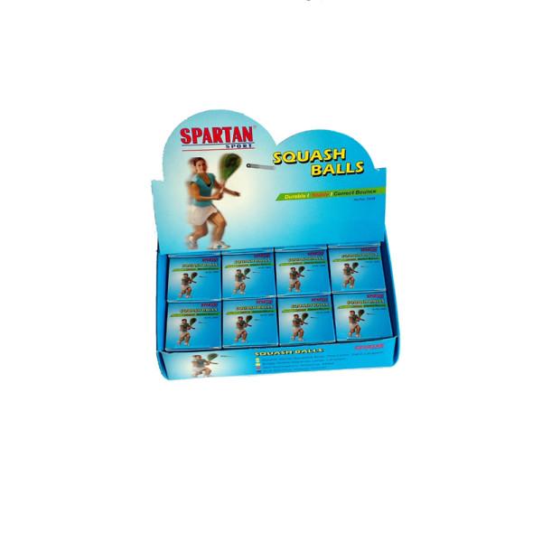 Squashový míček SPARTAN - 1ks - 2x žlutá tečka