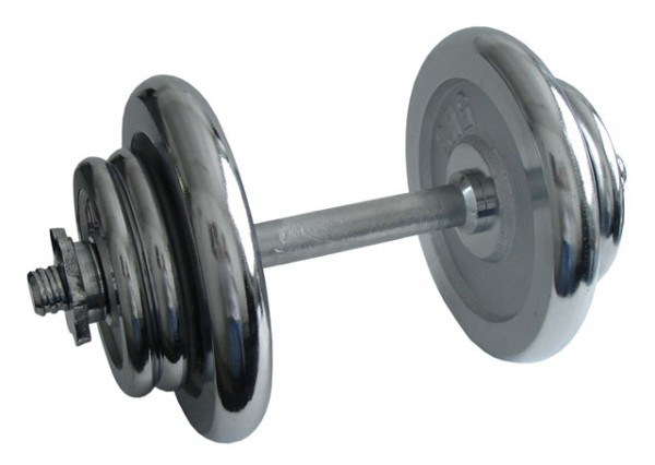 ACRA Nakládací činka jednoruční, chromová - 17 kg